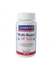 Multiguard for kids (de 4 a 14 años libre de aspartame 100 tabletas lamberts