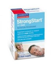 Strongstart hombres apoyo nutricional etapa fecundacion vit+minr+omega3 30 capsulas lamberts