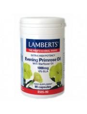 Aceite de primula extra (rico en omega 6) alta potencia con borraja 1000mg 12% gla 90 capsulas lamberts