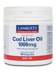 Aceite higado bacalao 1000 mg (epa 144/dha 107 mg) 180 capsulas lamberts