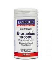 Bromelia 1000 gdu (nutrientes) 60 capsulas lamberts