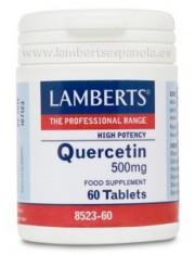 Quercitina 500 mg. (nutrientes) 60 tabletas lamberts