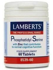 Fosfatidil serina 100mg/zinc (nutrientes) 60 tabletas lamberts