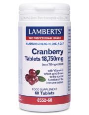 Arandano rojo 18750 mg (hierbas) 60 tabletas lamberts