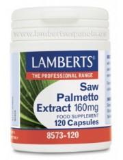 Extracto de saw palmetto 160 mg (hierbas) 120 capsulas lamberts