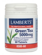 Te verde 5000 mg(aporta 250mg.catequinas) hierbas 60 tabletas lamberts