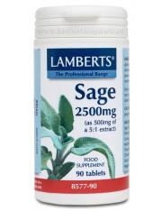 Salvia 2500mg (2,5% de acido rosmarinico) - (hierbas) 90 tabletas lamberts