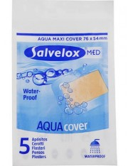 Salvelox med aqua cover aposito adhesivo 5 apositos 76 mm x 54 mm