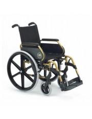 "Silla breezy 250 asiento de 43cm dorada 24"" maciza"