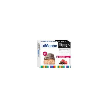 Bimanan metodo pro barrita chocolate fresa hiperproteicas hipocaloricas 6 barritas