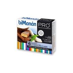 Bimanan metodo pro barrita chocolate y coco hiperproteica e hipocalorica 6 barritas