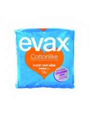 Evax Cottonlike Super Alas 12 compresas