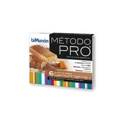 Bimanan metodo pro barrita chocolate-caramelo hiperproteica e hipocalorica 6 barritas