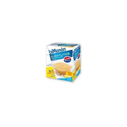 Bimanan natillas limon 50 g 6 sobres
