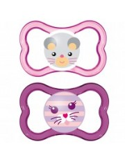 Dos Chupetes Silicona MAM Air +16 meses pack