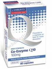 Co q10 100 mg (nutrientes) 60 capsulas lamberts