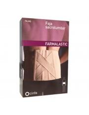 Faja sacrolumbar farmalastic beige t-1 (cintura 75-90 cm) cinfa