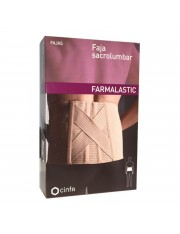 Faja sacrolumbar farmalastic beige t-3 (cintura 105-120 cm) cinfa