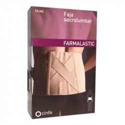 Faja sacrolumbar farmalastic beige t-4 (cintura 120-130 cm) cinfa