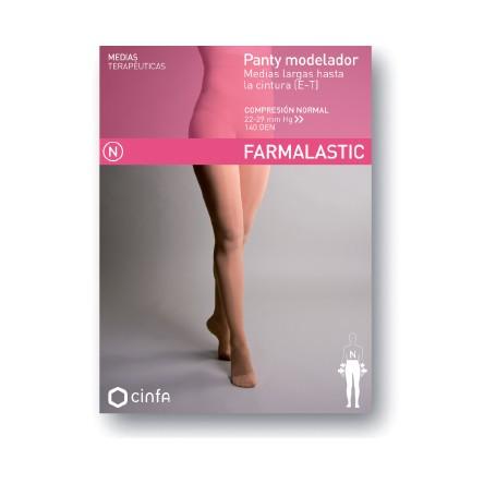 Panty modelador compresion normal farmalastic beige t- g(tobillo 26-27 cm,pantorrilla40-42 cm) cinfa