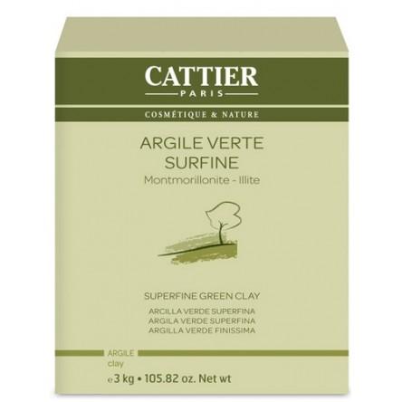 Cattier arcilla verde superfina de 3 kg