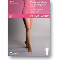Panty modelador compresion normal farmalastic negro t-eg (tobillo22-23 cm,pantorrilla34-36 cm) cinfa