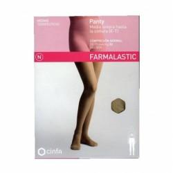 Panty compresion normal 140 farmalastic camel t- m (tobillo 24-25 cm,pantorrilla 37-39 cm) cinfa