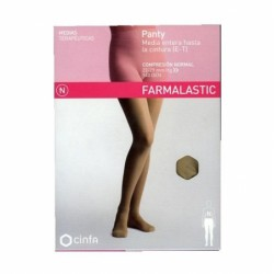 Panty compresion normal 140 farmalastic camel t- r (tobillo 24-25 cm,pantorrilla 39-41 cm) cinfa