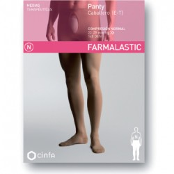 Panty caballero compresion normal farmalastic beige t- g (tobillo24-25 cm,pantorrilla37-39 cm) cinfa