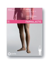 Panty caballero compresion normal farmalastic beige t- m (tobillo22-23 cm,pantorrilla34-36 cm) cinfa