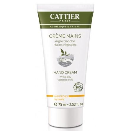 Cattier crema de manos con arcilla blanca 75 ml