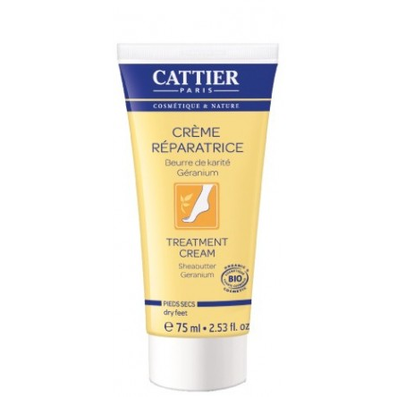 Cattier crema reparadora pies 75 ml