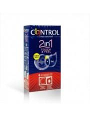 PRESERVATIVOS CONTROL 2 EN 1 TOUCH&FEEL + gel 6 UNIDADES
