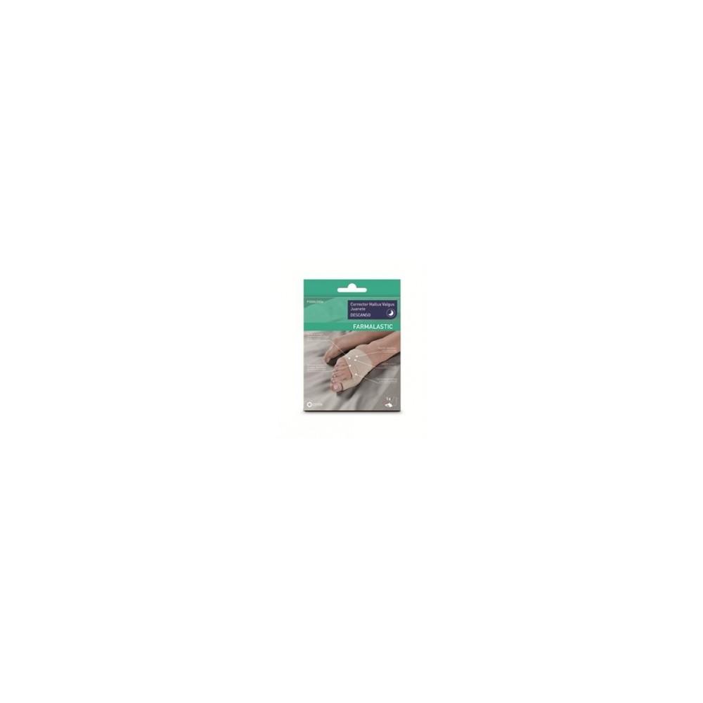 Corrector hallux valgus juanete farmalastic descanso talla mediana de 21 5 a 23 cm cinfa