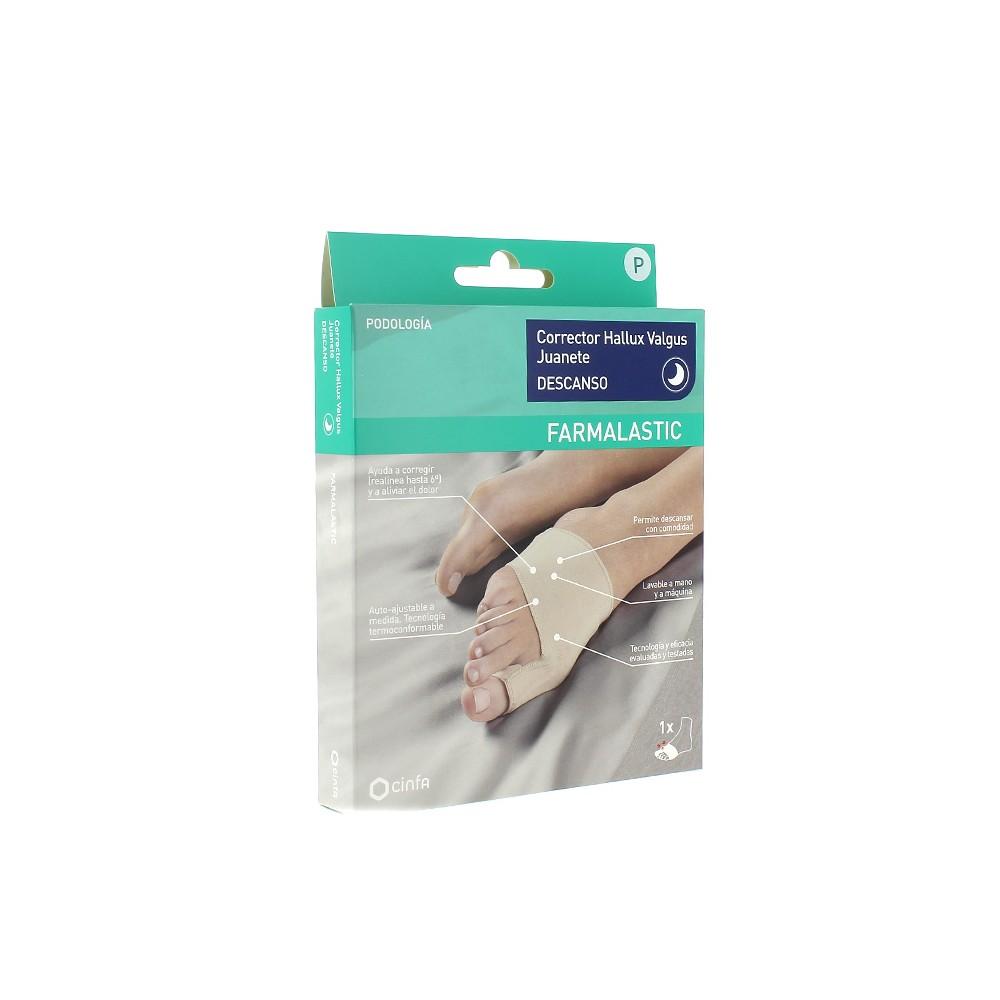 Corrector hallux valgus juanete farmalastic descanso talla peque a de 20 a 21 5 cm cinfa