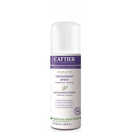 Cattier desodorante brume active mujer spray 100 ml