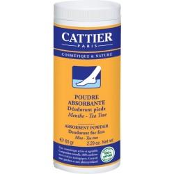 Cattier pies polvos absorbentes desodorante 65 g