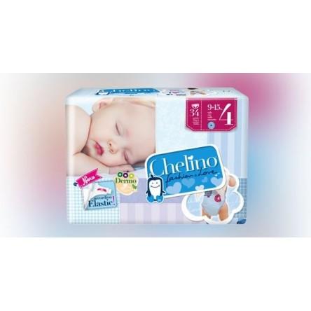 Chelino pañal infantil fashion & love t- 4 9-15 kg 34 pañales