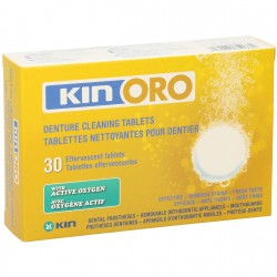 Kin oro tabletas limpieza dentaduras 30 unidades