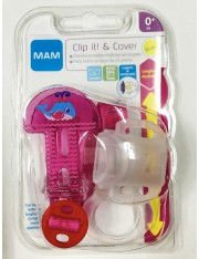 BROCHE CADENITA DE CHUPETE MAM CLIP IT! & COVER BROCHE CON PROTECCION