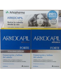 ARKOCAPIL ADVANCE FORTE VITALIDAD CAPILAR 2 x 60 CAPSULAS PACK 2 MESES