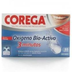 Corega oxigeno bio 3 minutos limpieza protesis dental 66 tabletas