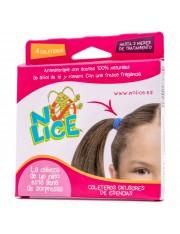 no-lice gomas coleteros para el cabello aromaterapia 4 gomas rb antipiojos