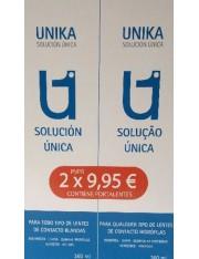 SOLUCION UNIKA LENTES BLANDAS 2 X 360ML + PORTALENTES