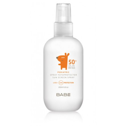 Babe fotoprotector 50+ spray pediatrico niños infantil 200 ml