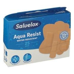 Salvelox apositos plastico aqua resist surtido 25 tiritas 5 tamaños