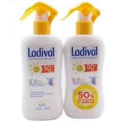 Ladival 50 niños fotoprotector FPS50 Alta protección. Spray para pieles atópicas. Pack Duplo 2x200ml