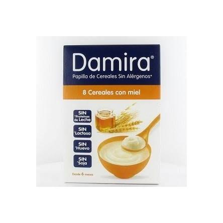 Damira papilla 8 cereales con miel 600 g
