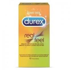 Durex preservativos real feel sin latex 12 unidades