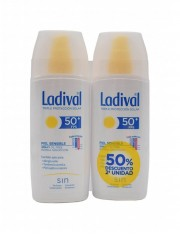 LADIVAL PIELES SENSIBLES O ALÉRGICAS SPRAY FOTOPROTECTOR FPS 50+ PACK DUPLO 2 X 150 ML